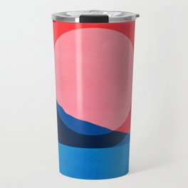 Abstraction_Mountains_SUNSET_Reflection Travel Mug