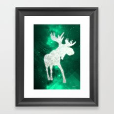 Space Reindeer Framed Art Print