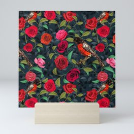 Roses and Robins Mini Art Print