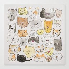 cats art print, cat lover gift Canvas Print