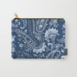 Blue indigo paisley Carry-All Pouch