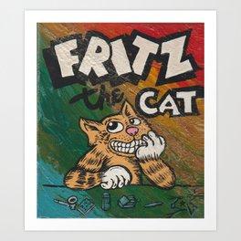 CULT ICON, FRITZ THE CAT by DAVID C*J BUNN Art Print