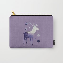 Deer with Mountains and Dots Carry-All Pouch