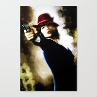 agent carter Canvas Prints featuring Agent Carter by Ms. Givens