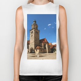 A Church In A Bavarian Village Biker Tank