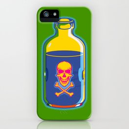 psychedelic poison bottle iPhone Case