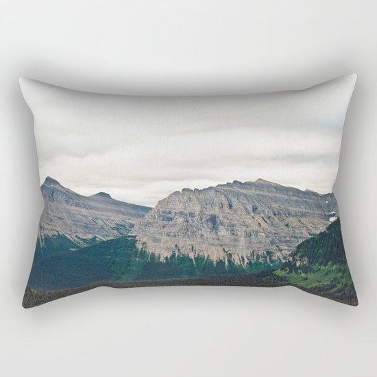 Mountain Green Rectangular Pillow
