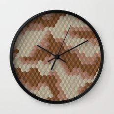 CUBOUFLAGE DESERT Wall Clock