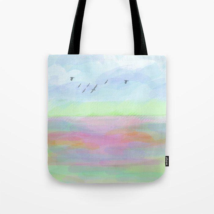 Pastel dreamscape Tote Bag