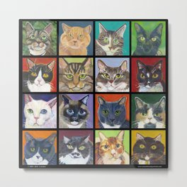Cats, Cats, Cats with black border Metal Print