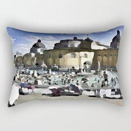 Szcéchenyi Baths Budapest Rectangular Pillow