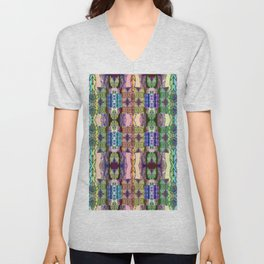 Magical Textile Rainbow Abstract Unisex V-Neck