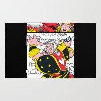 lichtenstein Area & Throw Rugs featuring Leeeeee-ROY Lichtenstein!!! by Oubliette