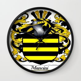 Family Crest - Mancini - Coat of Arms Wall Clock