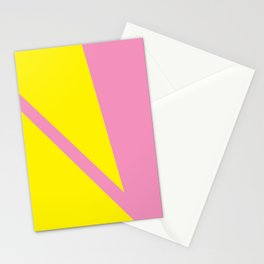 Pink Angles Stationery Cards