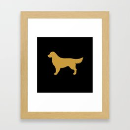 Golden Retriever (Black/Gold) Framed Art Print
