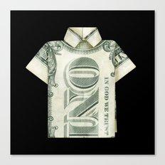 One dollar shirt Canvas Print