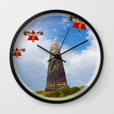 Surreal Living 33 · The Invasion · Crop Circle Wall Clock