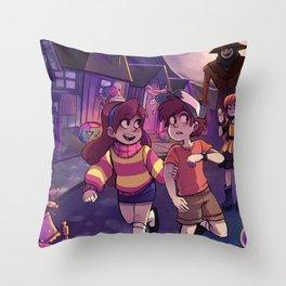 Summerween Throw Pillow