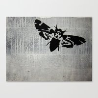 silence of the lambs Canvas Prints featuring Silence of the Lambs by Kat Phelps