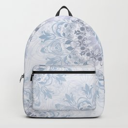 Blue Purple Floral Mandala Backpack