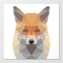 Fox Abstract Low Poly Canvas Print
