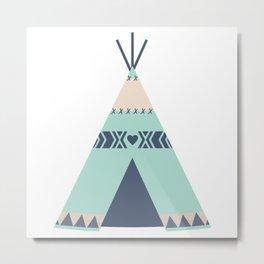 Mint Tipi Metal Print