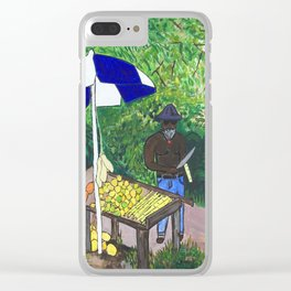 Caribbean Roadside Vendor Clear iPhone Case