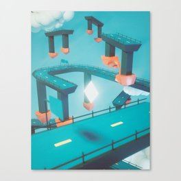 Bridge Over Untroubled Skies - 01 Canvas Print