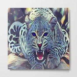 The Snow Leopard Metal Print