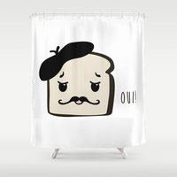 french Shower Curtains featuring French French Toast by Little g Design
