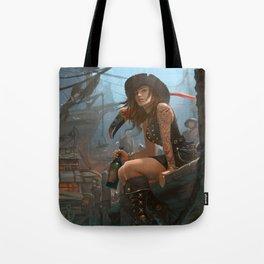 Pirate Haven Tortuga Tote Bag