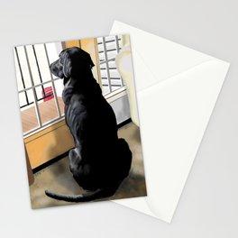 Black Lab Dog Stationery Cards