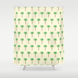 Palm tree drawing Shower Curtain
