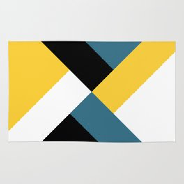 Triangles and stripes Rug