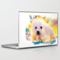 seal Laptop & iPad Skins featuring  curious seal by ururuty