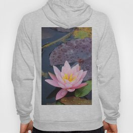 Pink water lily flower Hoody