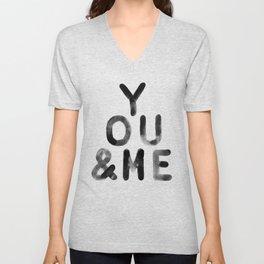 You & Me Unisex V-Neck