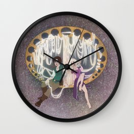 Rapunzel and Flynn Rider Wall Clock