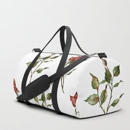 Loose Watercolor Rosebuds Duffle Bag