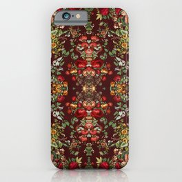 Chintz flowers pattern from the Industrial arts of the Nineteenth Century by Sir Matthew Digby wyatt iPhone Case