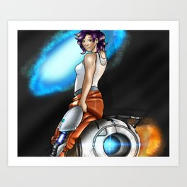 Myself in the world of portal Art Print