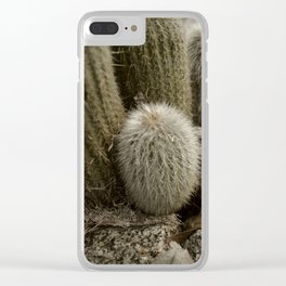 flower in the desert Clear iPhone Case