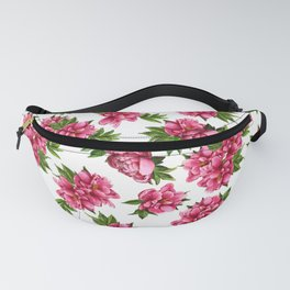 Watercolor pion Fanny Pack