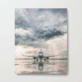 Embraer 175 Metal Print