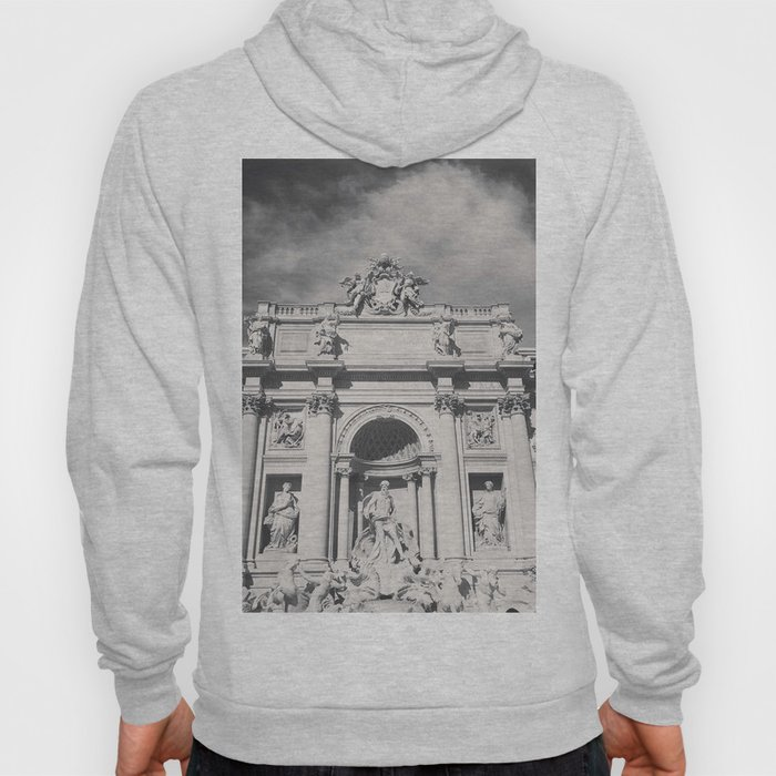 Trevi Fountain, black & white photography of Rome, fine art architecture, italian architectural love Hoody