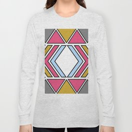 Ndebele inspired pattern Long Sleeve T-shirt