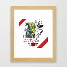 Save the Interwebs - STOP SOPA Framed Art Print