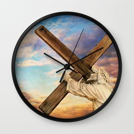 He has Risen Wall Clock