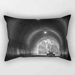 Travel photography through the tunnel black & white Rectangular Pillow